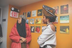 Mudcloth crown and Havana twists. Queen Latifah/Salt N Pepper steeze.