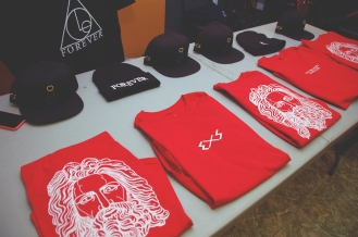 L.O.E. x Established Forever merch table.