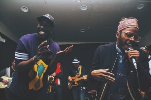 "MoRuf + Jesse Boykins III performing ""Homie.Lover.Friend."""