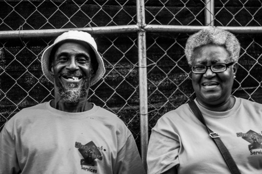 """Mr. and Mrs."" The only older black couple in the park, these two were running security near the media tents in Union Park and I found their presence encouraging."